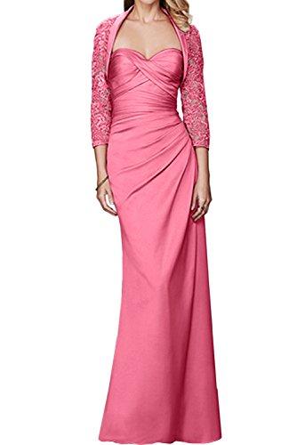 Abendkleider Wassermelone Damen Bolero Spitze Brautmutterkleid Ballkleider Lang Promkleid Ivydressing Mit Herzform wPTqxgTX1