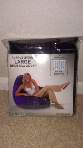 Bean Bag Factory Large Purple Swirl Bean Bag Chair Cover