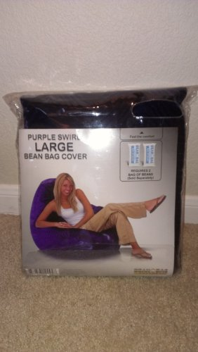 Bean Bag Factory Large Purple Swirl Bean Bag Chair Cover
