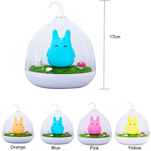 Led Night Light Portable Abs 140X140x170 Mm  5 5X5 5X6 7 Inch  Silicone Soft Cartoon Outdoor Can Charge It By Your Computer Or Power Bank  Orange