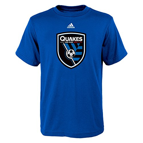 MLS San Jose Earthquakes Boys 8-20 Primary Logo Short Sleeve Tee, Blue, Large