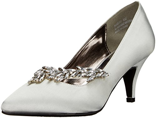 Annie Shoes Women's Danbury Dress Pump, Silver, 7 M US