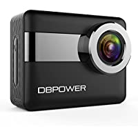 DBPOWER N6 4K Touchscreen Action Camera, 2.31 LCD Touchscreen 20MP Sony Image Sensor 170° Wide-Angle Waterproof WiFi Sports Camera, 2 Batteries included in Accessories Kit
