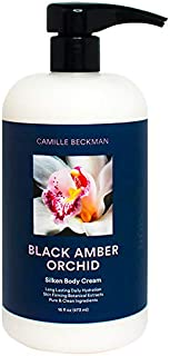 product image for Camille Beckman Silken Body Cream, Black Amber Orchid, 16 Ounce