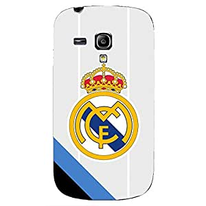 Famous Design FC Real Madrid FC Team Logo Phone Case Cover For Samsung Galaxy S3mini 3D Plastic Phone Case
