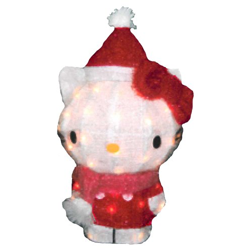 Hello Kitty Kurt Adler Hello Kitty 3D Soft Tinsel Décor, 35-Light, 18-Inch