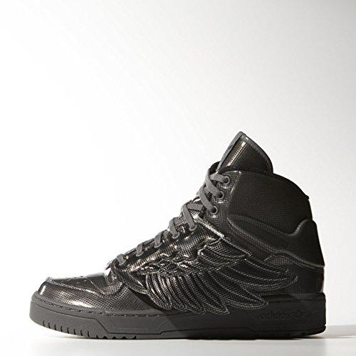 adidas JS Wings Molded, zapatillas para mujer–negro–negro, EU Gris - negro