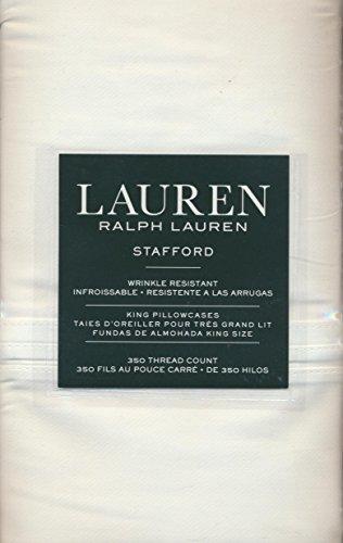 Stafford Bedding (Lauren Ralph Lauren Stafford (2) Standard Pillowcases 100% Cotton Sateen - White)