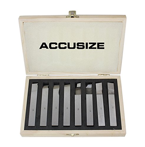 AccusizeTools - 1/2 inch 8 pcs H.S.S. Tool Bit Set, Pre-Ground for Turning & Facing Work, for Aluminum.Steel, Brass, Plastic & Wood, 2662-2004 by Accusize Industrial Tools (Image #8)