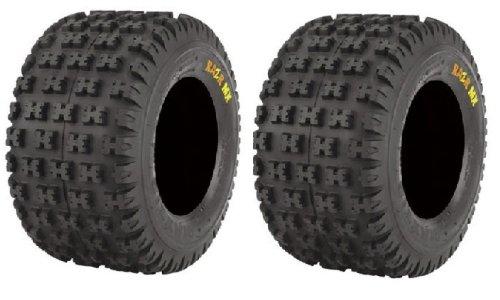 Pair of Maxxis Razr MX Rear ATV Tire Orange 18x10-8(2)