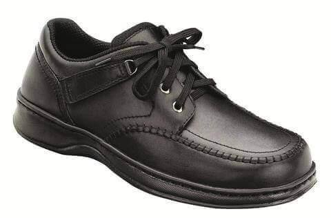 Orthofeet Jackson Square Comfort Orthopedic Diabetic Walking Shoes For Men Black Leather 10 M US by Orthofeet (Image #5)