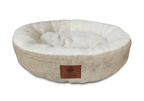 AKC-Casablanca-Round-Solid-Pet-Bed