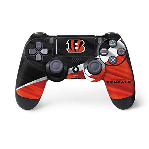 Skinit Cincinnati Bengals PS4 Controller Skin - Officially Licensed NFL PS4 Decal - Ultra Thin, Lightweight Vinyl Decal Protective Wrap