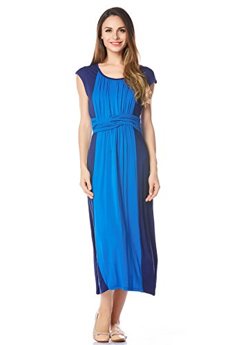 Bearsland Women's Maternity Long Style Sleeveless Breastfeeding Nursing Dress by Bearsland