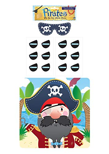 Rimi Hanger Stick The Eye Patch On The Pirate Game Childrens Kids Pin Tail Activity Accessory One Size -