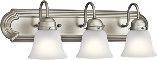 Kichler Lighting 5337NIS Three Light Bath, Brushed Nickel