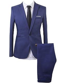 vidaXL Traje de chaqueta de hombre 2 piezas antracita azul talla 46 ... 6d0ca4052b07