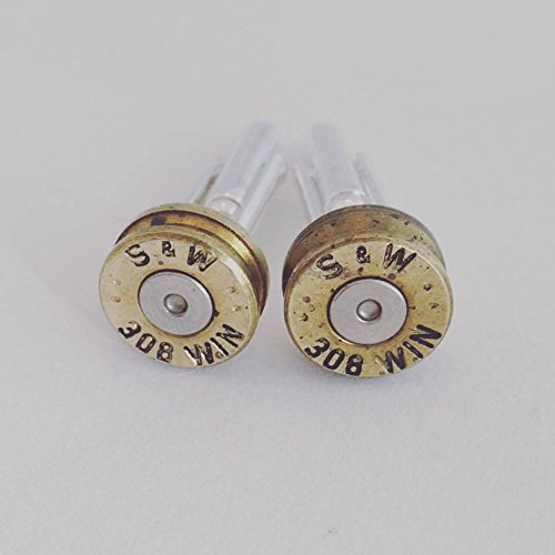Winchester 308 Bullet Shell Cuff Links