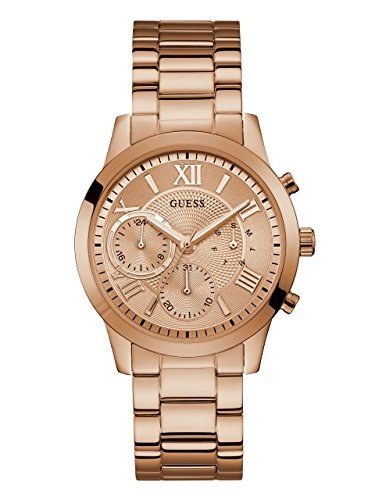 GUESS Women's Stainless Steel Casual Watch, Color: Rose Gold-Tone (Model: - Guess Rose Gold Watch