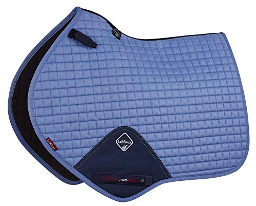 (Le Mieux Prosport Close Contact/Jumping Suede Square Saddle Pad (Corn Blue, Large) )