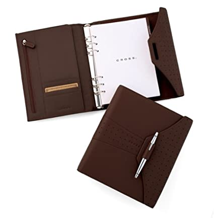 Cross Autocross Leather Medium Agenda with Pen Brown (AC133-9)