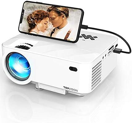 Mini proyector, 3800 lumens TOPVISION Sincronice el proyector de ...