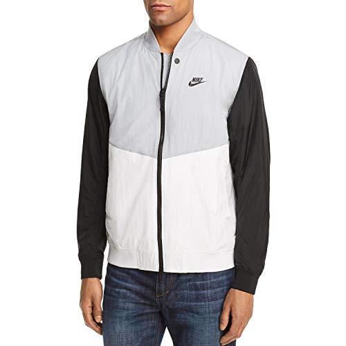 Nike Sportswear Franchise Varsity Men's Jacket, Grey/Black/White, Large