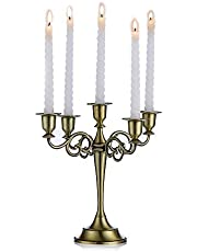 Metal Candle Holder 5-arms Candle Stand 27cm Tall Wedding Event Candelabra Candle Stick