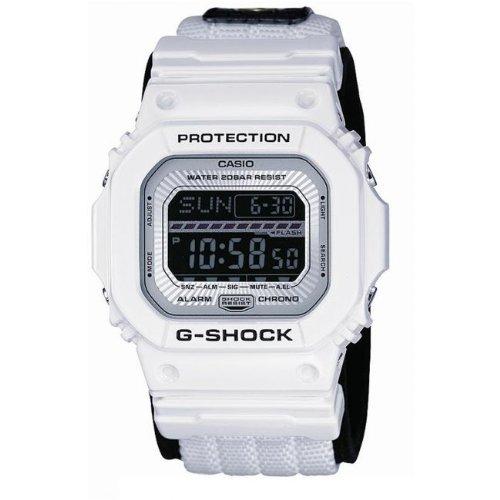 Casio GLS-5600V-7ER - Reloj digital de cuarzo para hombre con correa de tela, color blanco: Amazon.es: Relojes