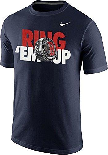 Nike Sleeve Mlb Short Shirt (NIKE Boston Red Sox Men's MLB 2013 World Series Champions Ring Em Up T-Shirt (Navy Blue, Small))