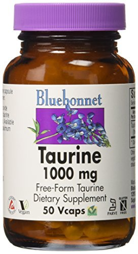 (Bluebonnet Taurine 1000 mg Vitamin Capsules, 50 Count by Blue Bonnet)