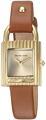 Michael Kors Women's 'Isadore' Quartz Stainless Steel and Leather Casual Watch, Color:Brown (Model: MK2693) by Michael Kors