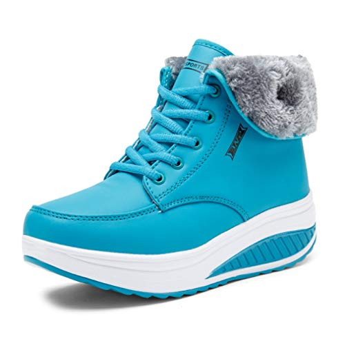 Scarpe Alto Aiutare Plus Velluto Women Liangxie Antiscivolo Spesso Womens Wedge Heat Fondo Caldo Lace Cotone Per Snow Boots Ankle New Di Blu Up Bootiewinter Le wxn8RaqUn0