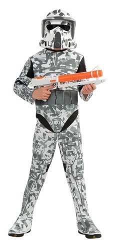 Star Wars The Clone Wars, Child's Costume And Mask, Arf Trooper Costume, Medium (Ages 5 to 7)