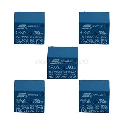 Voltage Relay - 5pcs Mini 10a 5v Dc Songle Power Relay Srd 5vdc Sl C Pcb Type - Loop Overload Solenoid Children