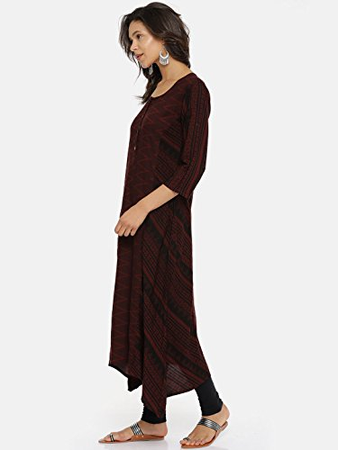 for Printed Multicoloured Women's Kurta Women Women Tunic Long Aaboli Kurti Dress Pink3 Casual qtHFZW