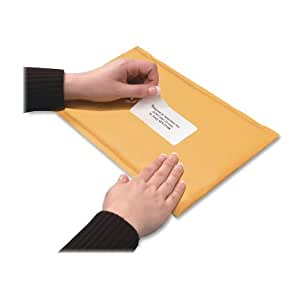 Quality Park Bubble Mailer with Mailing Labels, Redi-Strip, 7.5 x 9 Inches, Brown Kraft, Box of 10 (85655)