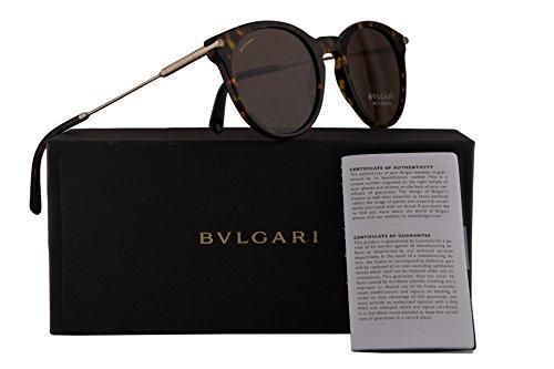 Bvlgari BV7030 Sunglasses Dark Havana w/Brown 51mm Lens 50473 BV 7030 - Bulgari Sunglasses