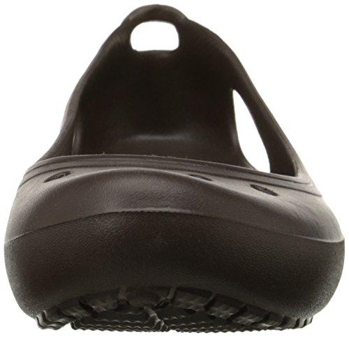 punta redonda Espresso para Crocs Espresso mujer de Zapatos Marrone Kadee qftFf