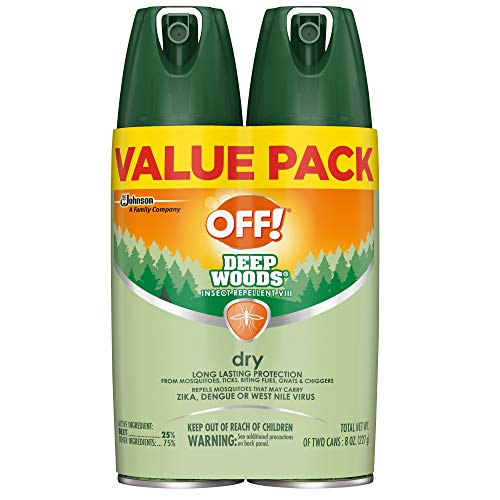 OFF! Deep Woods Insect Repellent VIII Dry, 4 oz. (2 ct) (Best Deet Bug Spray)