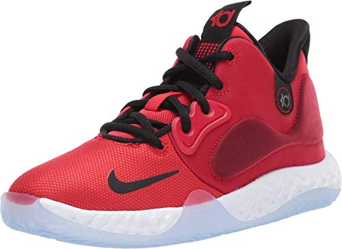 Nike Kids' Grade School KD Trey 5 VII Basketball Shoes (6, Red/Black/White)