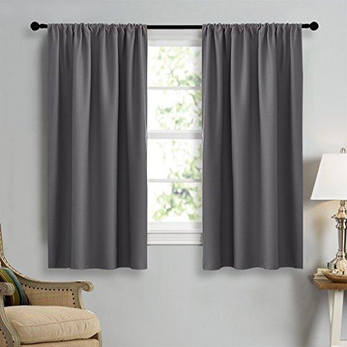 grey window curtains