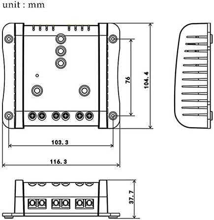 jerry 10A Solarladeregler, Solarpanel-Laderegler, universeller PWM-Solarbatterie Intelligenter Regler Geeignet für kleine Solaranlagen 12V / 24V