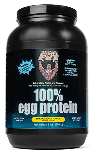 (Healthy 'N Fit 100% EGG PROTEIN- Banana (2lb): 100% Egg White Protein PLUS Natural Peptides. The Highest Quality, Purest, Most Effective, All Natural Protein.)