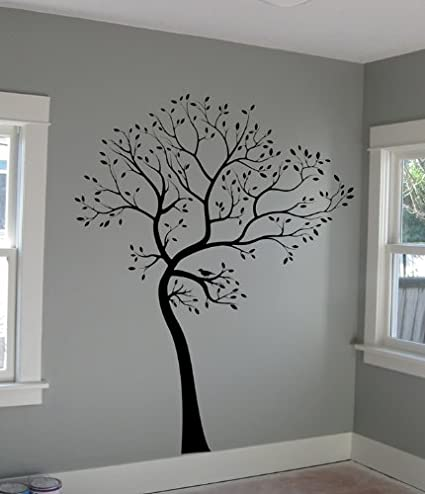 b62aae90275f Amazon.com: Digiflare Graphics Large Big Tree Wall Decal + BIRDS Deco Art  Sticker Mural Made in USA: Home & Kitchen