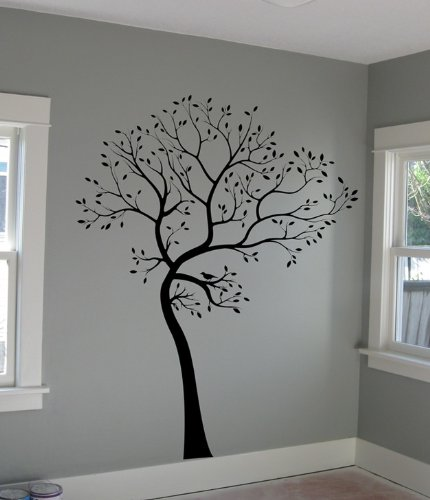 FREE SHIPPING! Large Big Tree Wall Decal + BIRDS Deco Art Sticker Mural - ORIGINAL DECAL IS MADE IN USA BY DIGIFLARE
