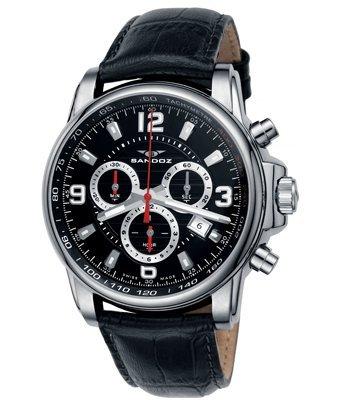 Sandoz 7259105 - Reloj de Pulsera de Hombre, Correa de Piel: Amazon.es: Relojes