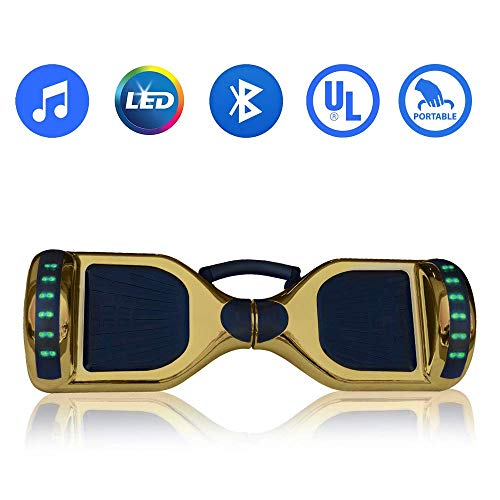 "Hoverboard Self Balancing Electric Scooter UL2272 Certified-6.5"" Light Up Wheels- Bluetooth Speaker with LED-Lights Self Balance Hover board with Carrying Handle"