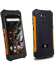 """HAMMER Iron 3, wygodny ekran 5,5"""" IPS, bateria 4400 mAh, android 9 GO, IP68,wodoodporny, dual sim, GPS A-GPS, quadcore, ram 1 gb, pamięć wewnętrzna 6 gb, aparat 8 Mpx, micro usb, pomarańczowy"""
