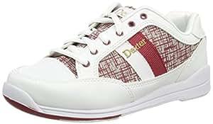 Dexter Lori - Zapatos de bolos para mujer (talla 37,5), color blanco y rojo